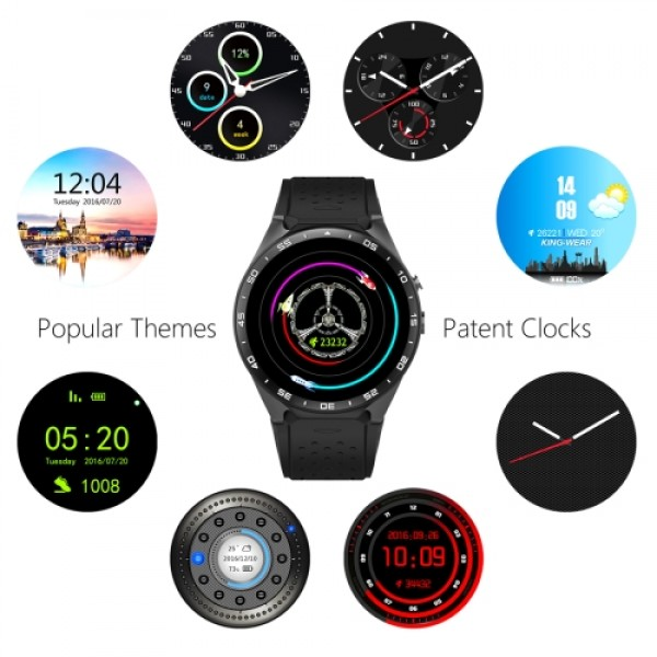KW88 1 39 inch AMOLED Screen Bluetooth 4 0 Android 5 1 OS MTK6580 Quad Core  1 3GHz Waterproof Smart Bracelet